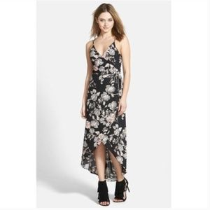 ASTR Wrap Front High Low Floral Dress sz Small